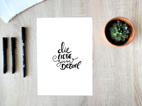 Handlettering - Die Liebe zum Detail